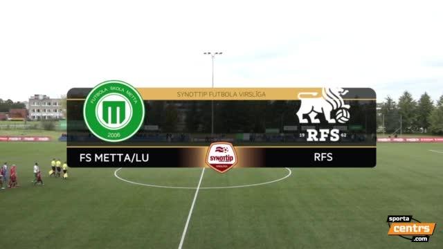 VIDEO: FS Metta/LU - RFS 1:1 spēles labākie momenti (24.sep.)