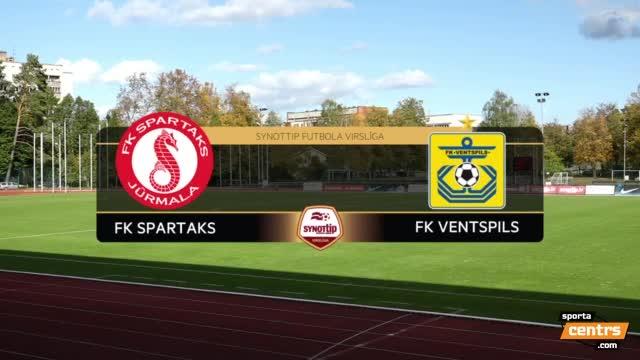 VIDEO: Spartaks Jūrmala - FK Ventspils 0:1 spēles momenti (1.okt.)