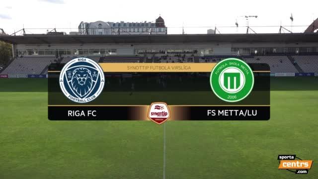 VIDEO: Riga FC - FS Metta/LU 2:1 spēles momenti (1.okt.)