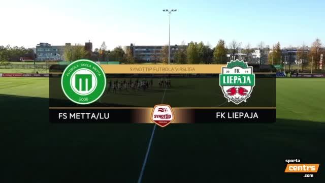 VIDEO: FS Metta/LU - FK Liepāja 3:1 spēles momenti (15.okt.)