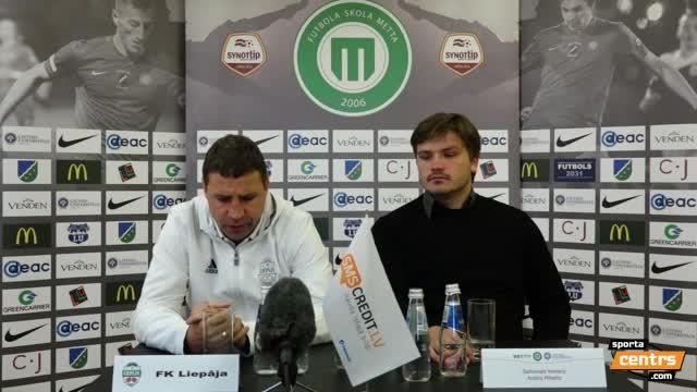 VIDEO: FS Metta/LU - FK Liepāja 3:1 preses konference (15.okt.)