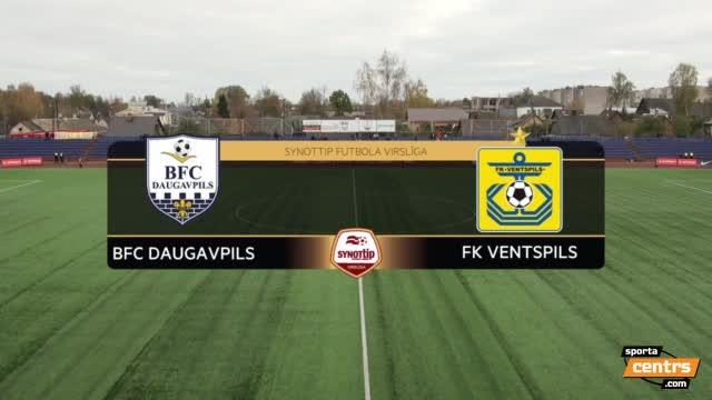 VIDEO: BFC Daugavpils - FK Ventspils 0:4 spēles momenti (16.okt.)