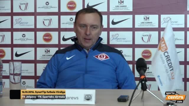 VIDEO: FK Jelgava - FK Spartaks Jūrmala 2:0 preses konference (16.okt.)