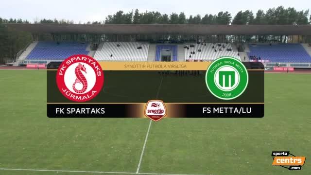 VIDEO: Spartaks Jūrmala - FS Metta/LU 2:0 spēles momenti (22.okt.)