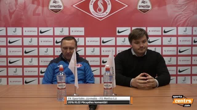 VIDEO: Spartaks Jūrmala - FS Metta/LU 2:0 preses konference (22.okt.)