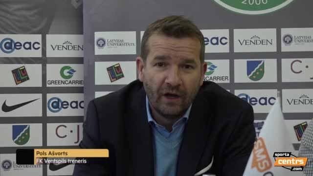 VIDEO: FS Metta/LU - FK Ventspils 2:1 preses konference (29.okt.)