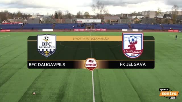 VIDEO: BFC Daugavpils - FK Jelgava 0:1 spēles momenti (29.okt.)