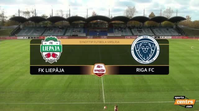 VIDEO: FK Liepāja - Riga FC 2:2 spēles momenti (29.okt.)