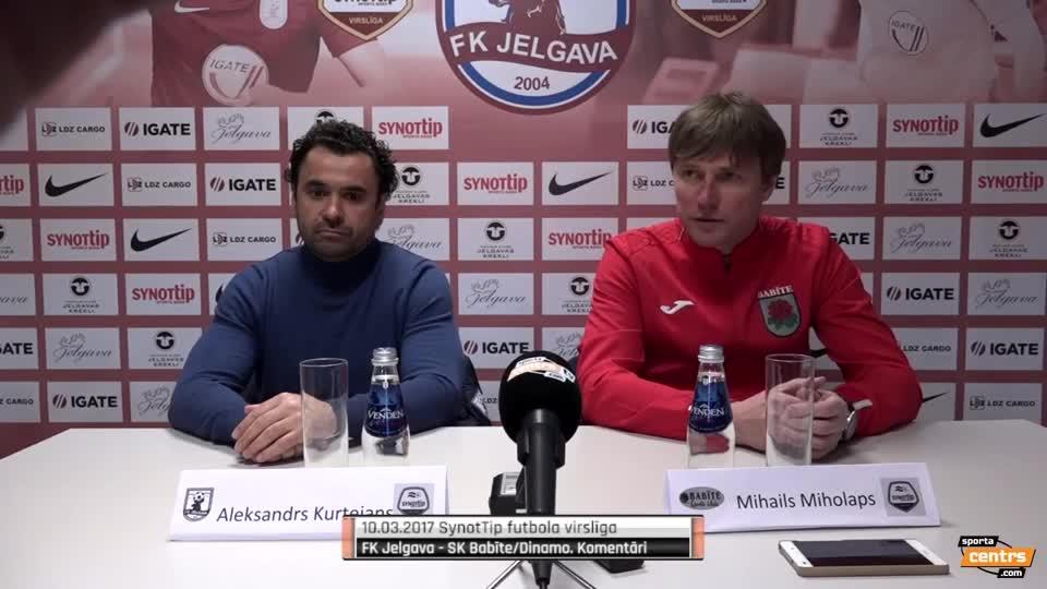 VIDEO: FK Jelgava - SK Babīte/Dinamo 1:0 preses konference (10.mar.)