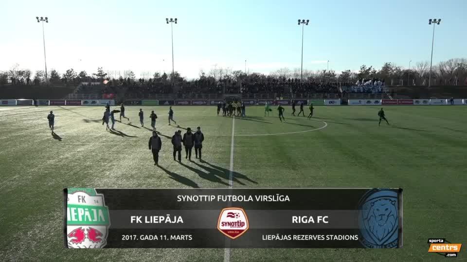 VIDEO: FK Liepāja - Riga FC 0:1 spēles momenti (11.mar.)