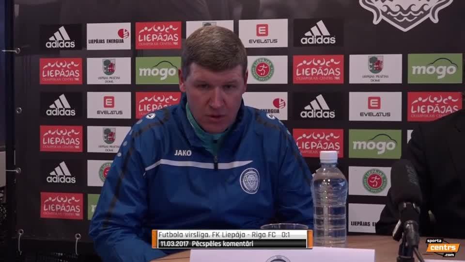 Video: FK Liepāja - Riga FC 1:2 preses konferene (11.mar.)