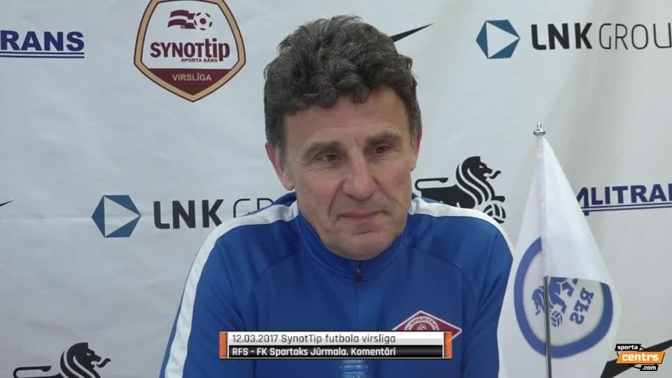 VIDEO: RFS - Spartaks Jūrmala 1:2 preses konference (12.mar.)