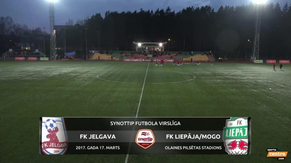 VIDEO: FK Jelgava - FK Liepāja 1:2 spēles momenti (17.mar.)