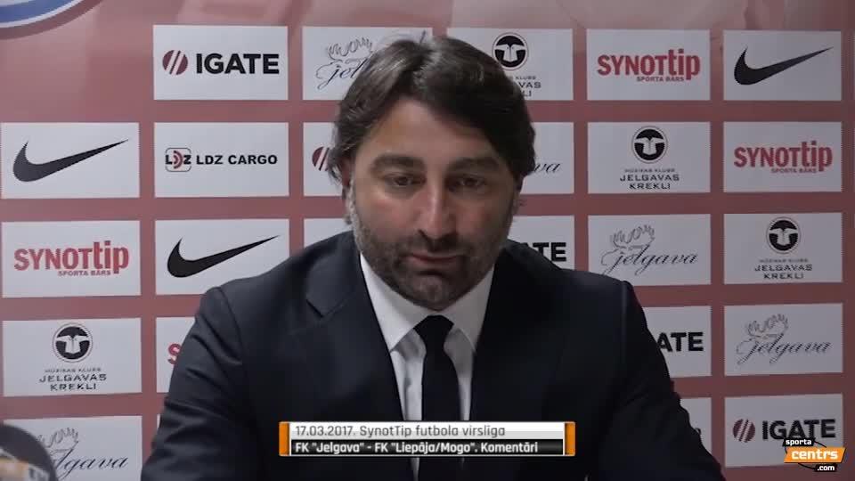 VIDEO: FK Jelgava - FK Liepāja 1:2 preses konference (17.mar.)