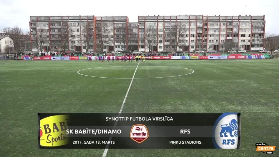 VIDEO: SK Babīte/Dinamo - RFS 0:0 spēles momenti (18.mar.)