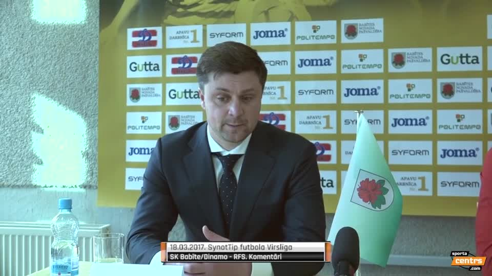 VIDEO: SK Babīte/Dinamo - RFS 0:0 preses konference (18.mar.)
