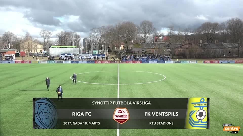 VIDEO: Riga FC - FK Ventspils 0:0 spēles momenti (18.mar.)