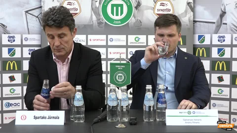 VIDEO: FK Metta/LU - Spartaks Jūrmala 2:4 preses konference (19.mar.)