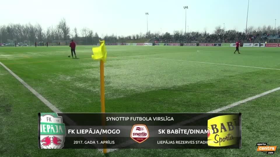 VIDEO: FK Liepāja - SK Babīte/Dinamo 3:1 spēles momenti (1.apr.)