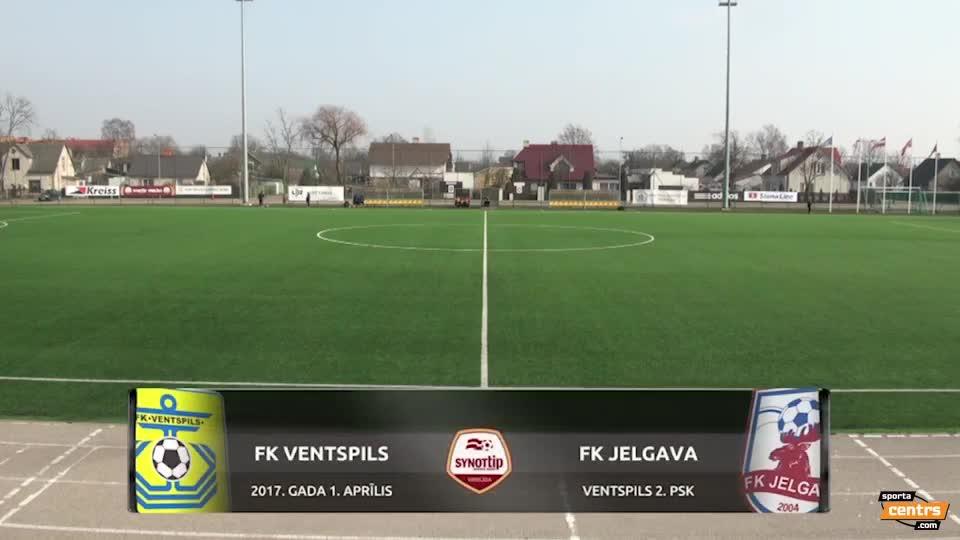 VIDEO: FK Ventspils - FK Jelgava 1:2 spēles momenti (1.apr.)