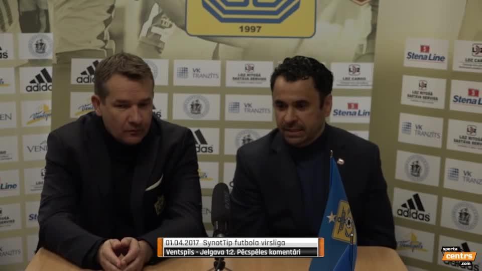 VIDEO: FK Ventspils - FK Jelgava 1:2 preses konference (1.apr.)