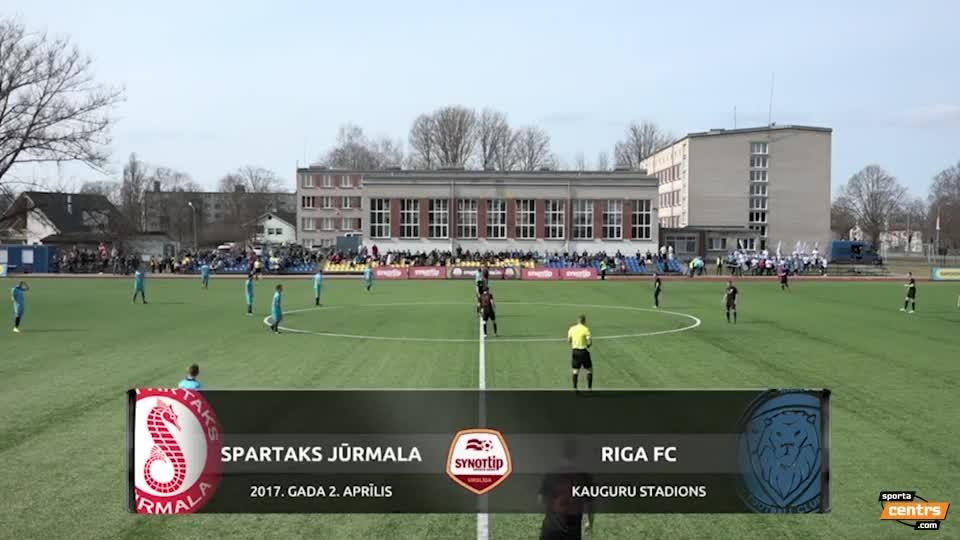 VIDEO: Spartaks Jūrmala - Riga FC 2:0 spēles momenti (2.apr.)