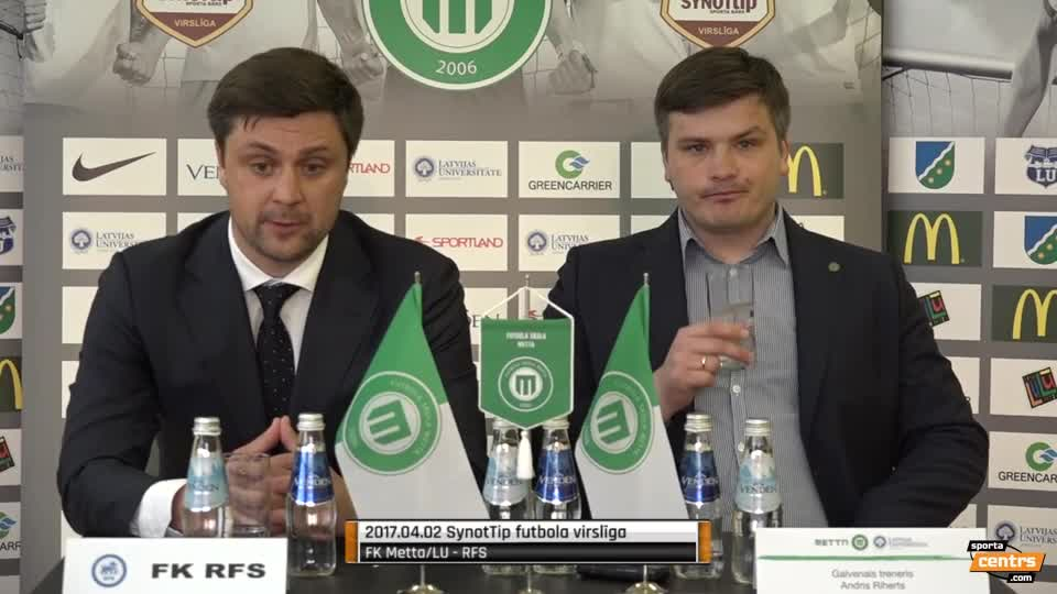 VIDEO: FK Metta/LU - RFS 3:1 preses konference (2.apr.)