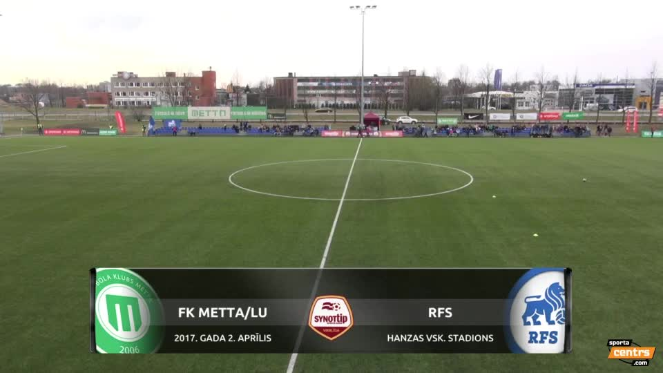 VIDEO: FK Metta/LU - RFS 3:1 spēles momenti (2.apr.)