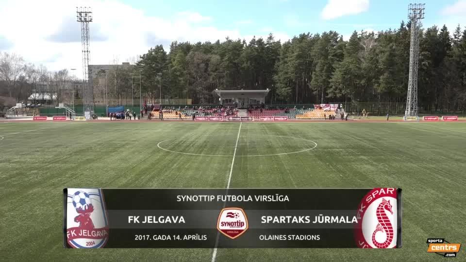 VIDEO: FK Jelgava - Spartaks Jūrmala 1:2 spēles momenti (14.apr.)