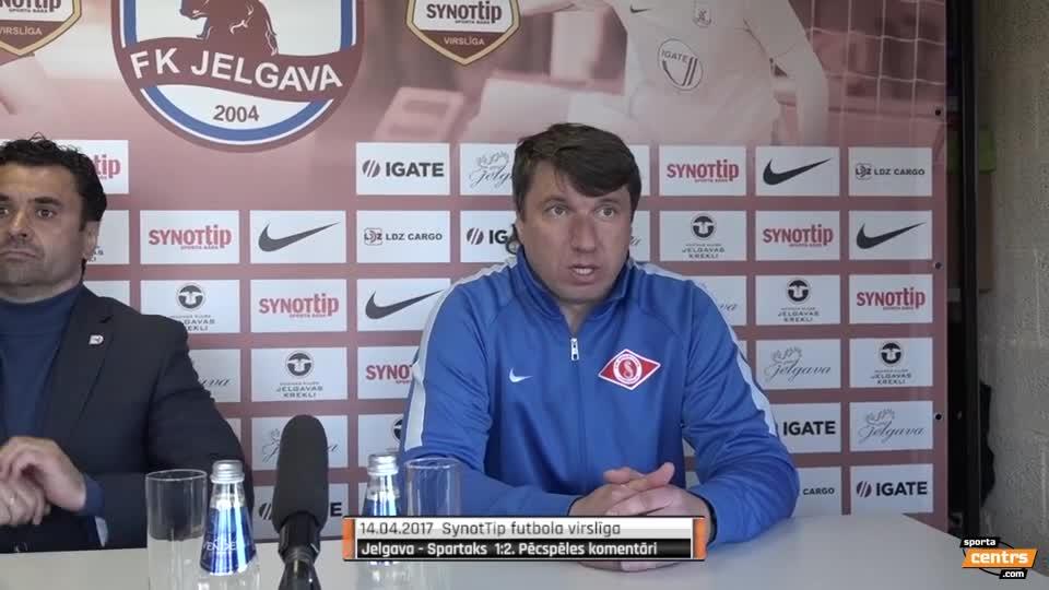 VIDEO: FK Jelgava - Spartaks Jūrmala 1:2 preses konference (14.apr.)