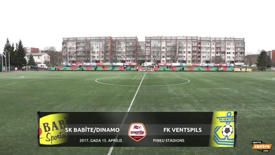 VIDEO: SK Babīte/Dinamo - FK Ventspils 0:4 spēles momenti (15.apr.)