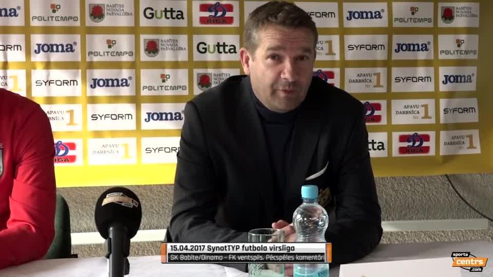 VIDEO: SK Babīte/Dinamo - FK Ventspils 0:4 preses konference (15.apr.)
