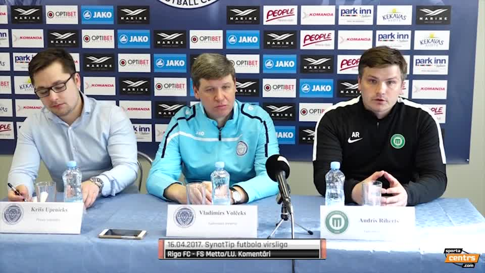 VIDEO: Riga FC - FK Metta/LU 2:2 preses konference (16.apr.)