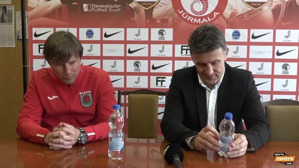 VIDEO: Spartaks Jūrmala - SK Babīte/Dinamo 2:2 preses konference (22.apr.)