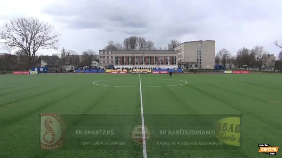 VIDEO: Spartaks Jūrmala - SK Babīte/Dinamo 2:2 spēles momenti (22.apr.)