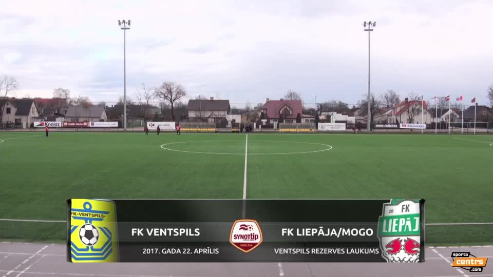 VIDEO: FK Ventspils - FK Liepāja 1:1 spēles momenti (22.apr.)