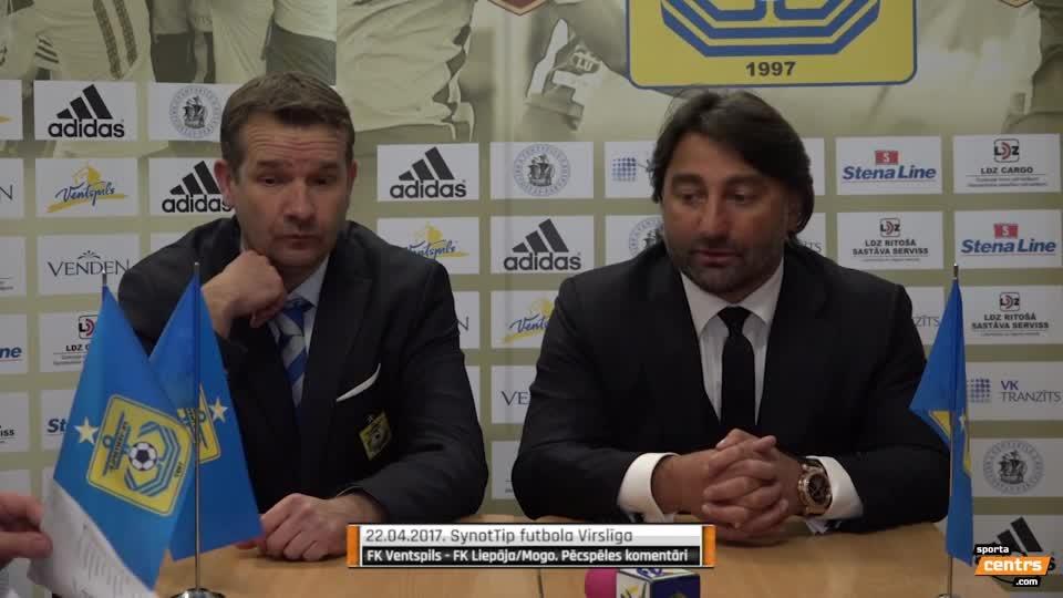 VIDEO: FK Ventspils - FK Liepāja 1:1 preses konference (22.apr.)