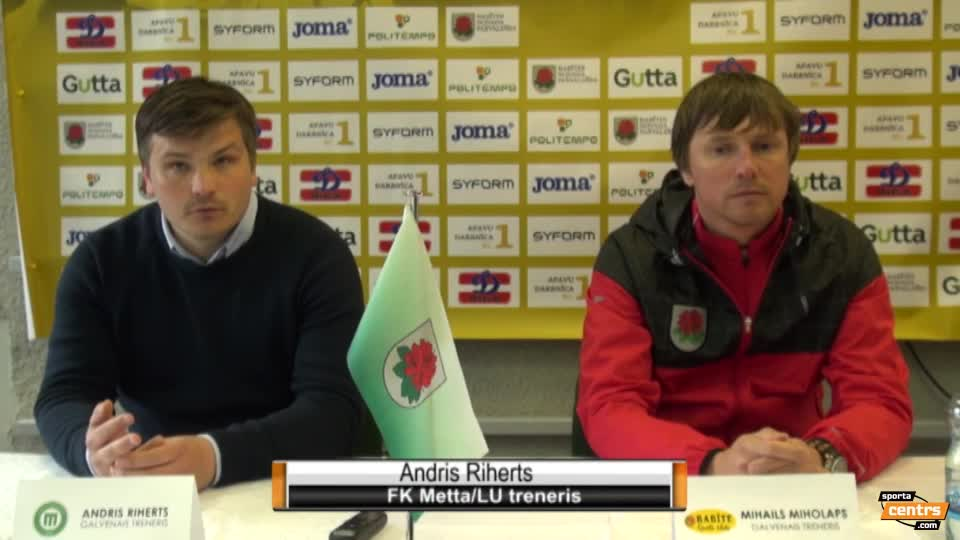 VIDEO: SK Babīte/Dinamo - FK Metta/LU 1:2 preses konference (29.apr.)