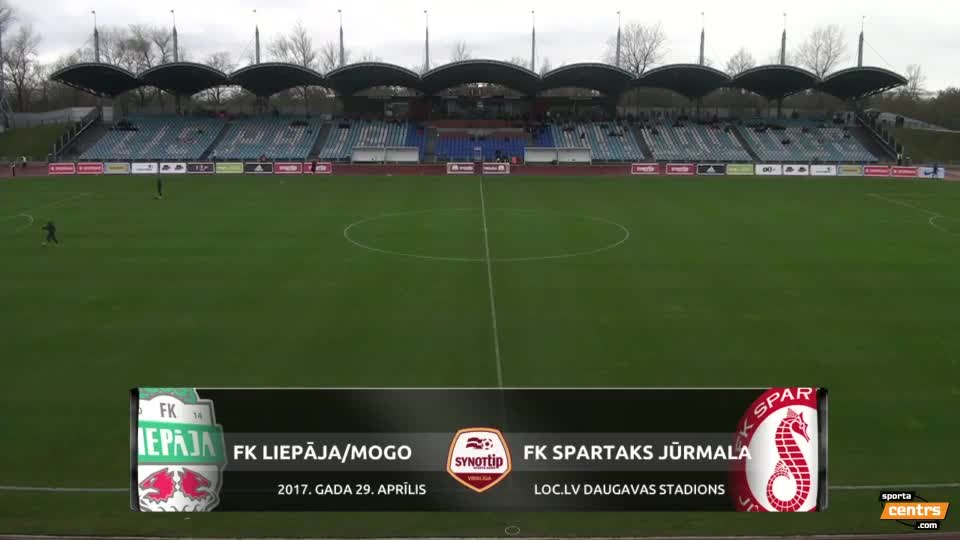 VIDEO: FK Liepāja/Mogo - Spartaks Jūrmala 1:3 spēles momenti (29.apr.)