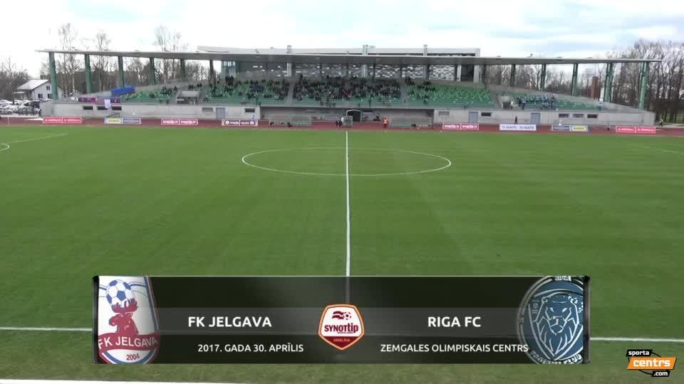 VIDEO: FK Jelgava - Riga FC 0:3 spēles momenti (30.apr.)