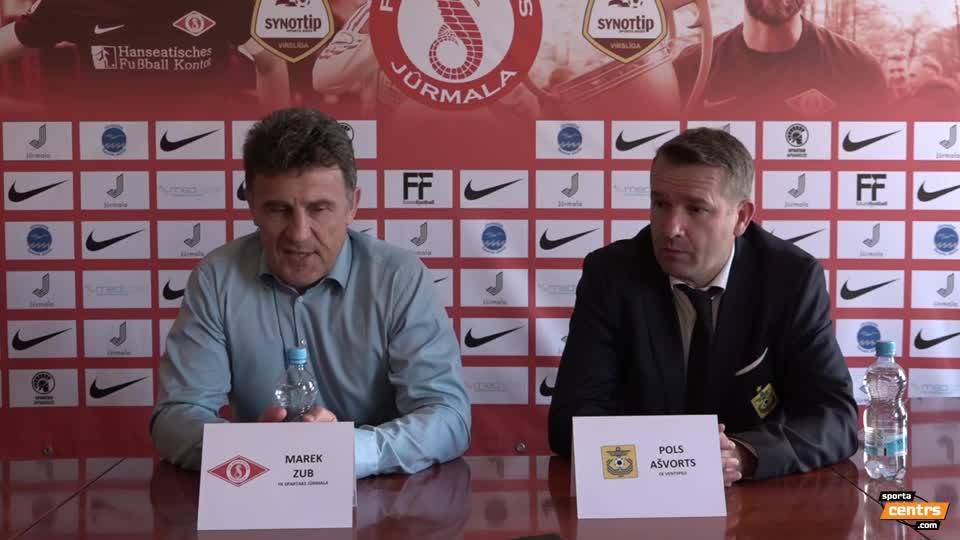 VIDEO: Spartaks Jūrmala - FK Ventspils 0:0 preses konference (7.mai.)