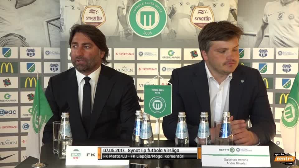 VIDEO: FK Metta/LU - FK Liepāja/Mogo 1:3 preses konference (7.mai.)