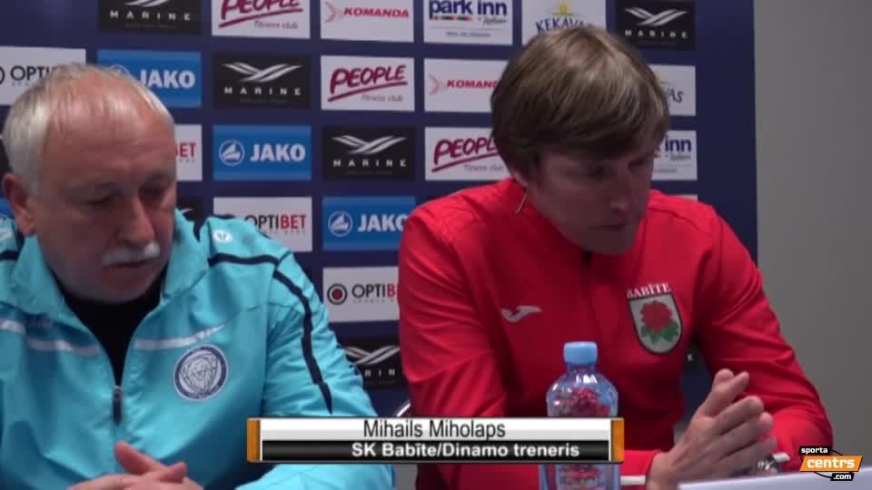 VIDEO: Riga FC - SK Babīte/Dinamo 2:1 preses konference (8.mai.)
