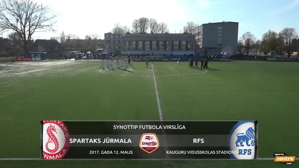 VIDEO: Spartaks Jūrmala - RFS 2:0 spēles momenti (12.mai.)
