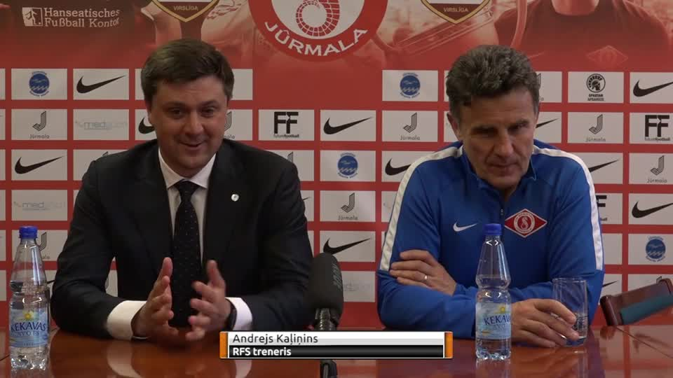 VIDEO: Spartaks Jūrmala - RFS 2:0 preses konference (12.mai.)