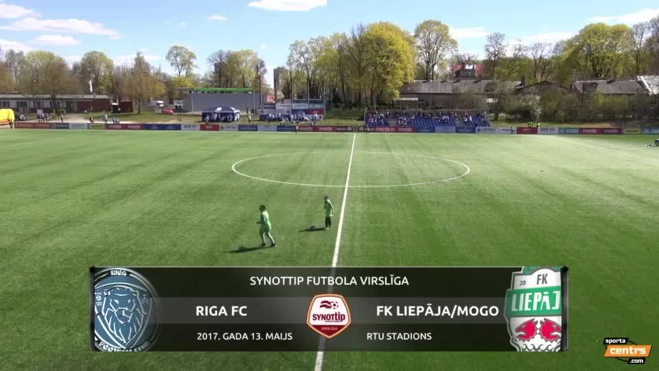 VIDEO: Riga FC - FK Liepāja/Mogo 0:2 spēles momenti (13.mai.)