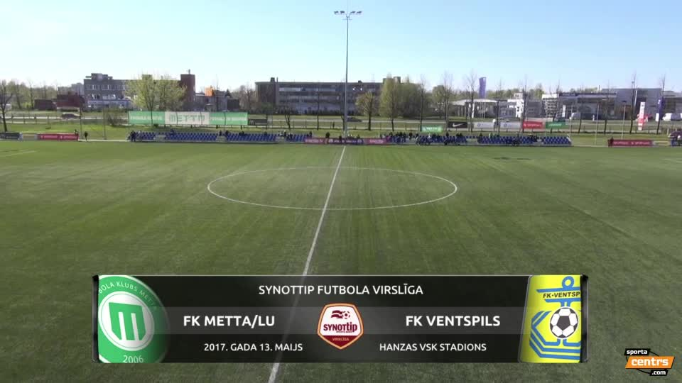 VIDEO: FK Metta/LU - FK Ventspils 1:1 spēles momenti (13.mai.)