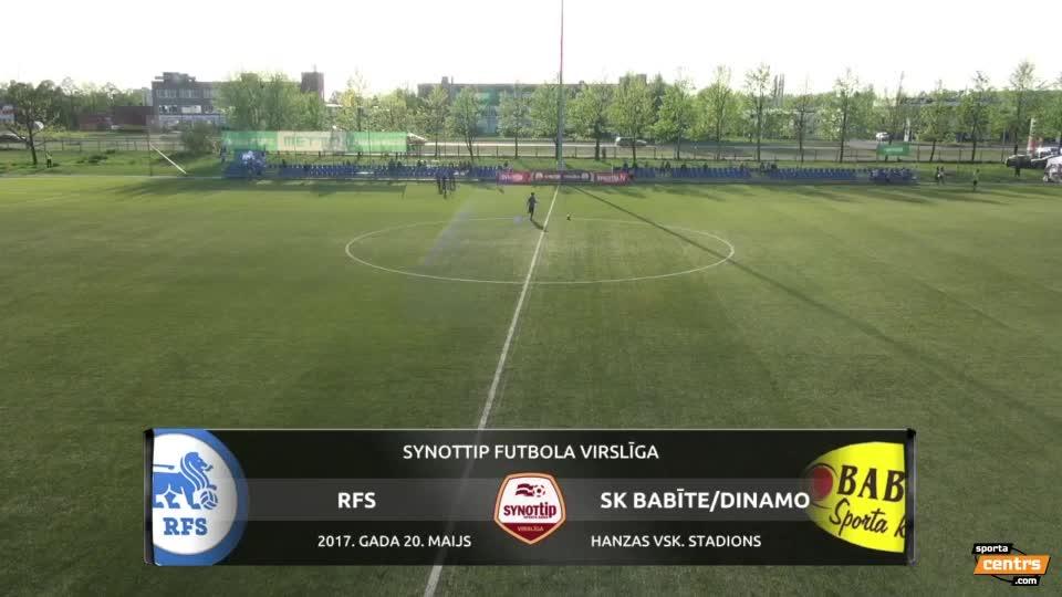 VIDEO: RFS - SK Babīte/Dinamo 2:1 spēles momenti (20.mai.)