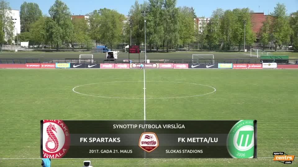 VIDEO: Spartaks Jūrmala - FK Metta/LU 1:0 spēles momenti (21.mai.)