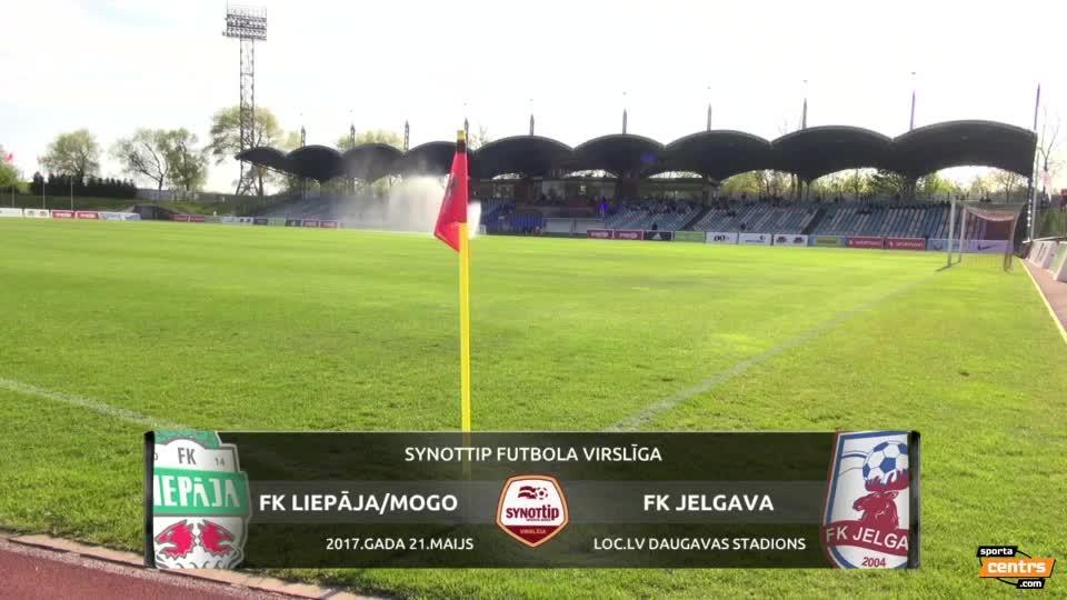 VIDEO: FK Liepāja/Mogo - FK Jelgava 3:0 spēles momenti (21.mai.)
